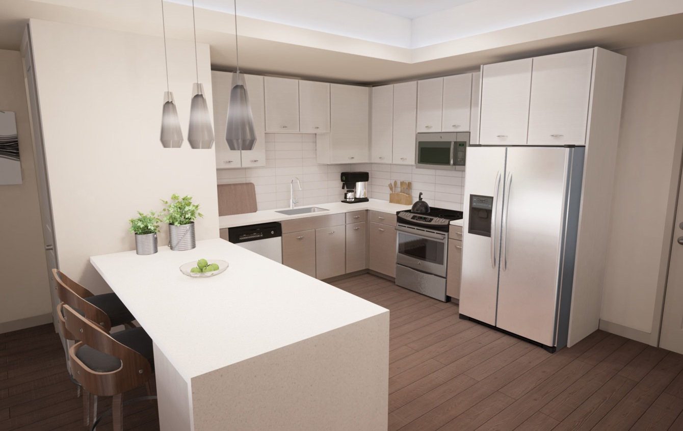 42-inch upper cabinets in all kitchens