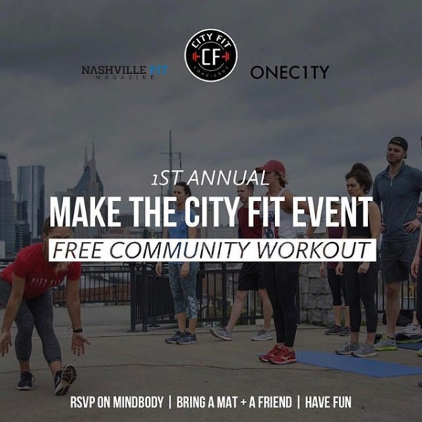 Join us tomorrow morning 9AM at @onec1ty in The Yard. #MakeTheCityFit  @vidaflo615  @theurbanjuicer  @cityfitconcierge -  Sign up on MINDBODY today! -  #cityfitnashville #vidaflonashville#theurbanjuicer #cityfitmassage#makethecityfit #cityfitconcierge #nashvillefit#musiccityfit #cityfit #nashville #musiccity#raleighfitness #charlottefitness#atlantafitness #orlandofitness #entrepreneur#trusttheprocess