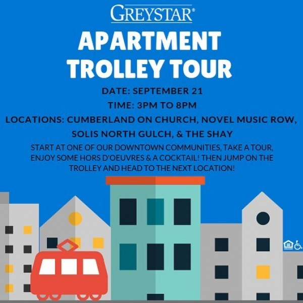 If you are in the market for an apartment downtown, come visit The Shay and our sister communities this upcoming Friday. Hop on our trolley and let us help you find the perfect apartment. Delicious appetizers, Signature Cocktails, and the BEST new address in the city. . . . . .  #westisbest #makelifehappen #fourshaysons #isntshaylovely #makelifehappen #nashville #bestlife #nashvilleliving