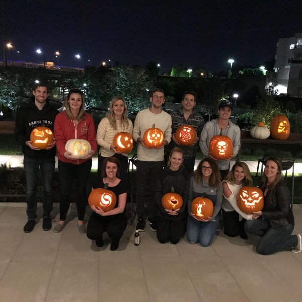 Pumpkins, spice, and everything nice!! We have the BEST residents in the Nashville!  #pumpkinthenightaway #615 #pumpkinspice #somethinpumpkin #slaytheshay #isntshaylovely #lightitup #pumpkincarving #pumpkineverything
