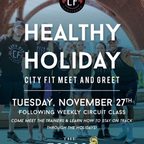Learn how to stay healthy during the holiday season tonight following our 6PM circuit class with @cityfitconcierge!
